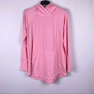 Lularoe Amber Pink hooded lightweight sweatshirt